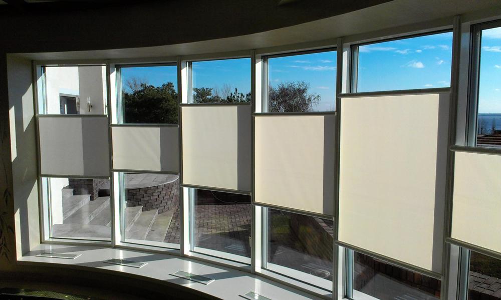Наши работы: рулонные шторы
